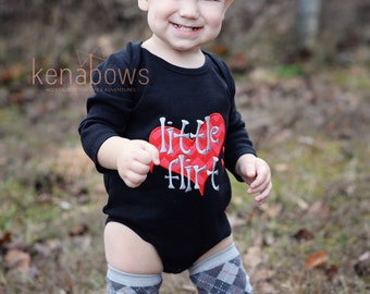 Newborn Boy Outfit, Little Flirt, Baby Boy Birthday, My 1st Valentines Shirt, Baby Shower Gift, Boy, Red, Grey, Black, Argyle Leg Warmers
