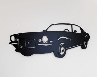 1970 Chevrolet Camaro Man Cave Classic  Garage Sign Satin Black Car Art