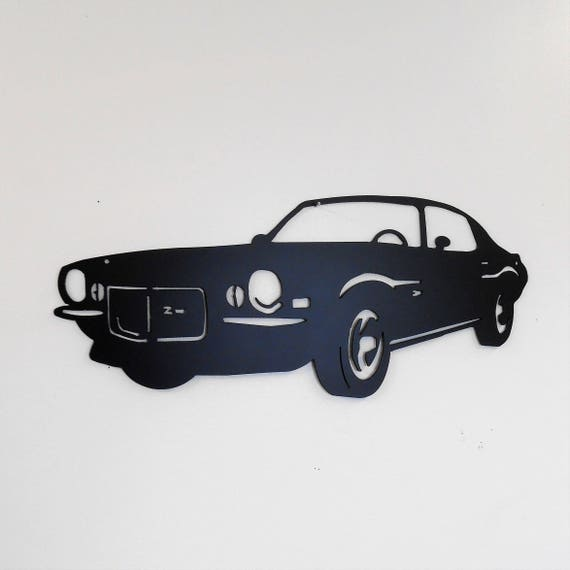 1970 Chevrolet Camaro Man Cave Classic  Garage Sign Satin Black Car Art