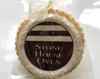 Custom corporate business logo gift favor shortbread cookie favors
