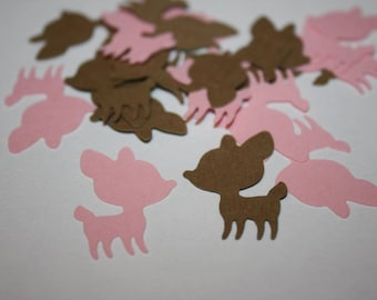 Deer Die Cut Confetti - Pink and Brown