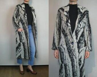 Marble Mohair Sweater Coat / Maxi Sweater Coat