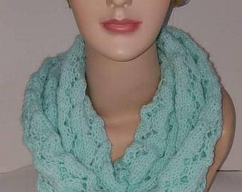 Eternity Scarf - Hand Knitted -  Lace Pattern