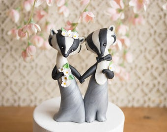 American Badger Wedding Cake Topper by Bonjour Poupette
