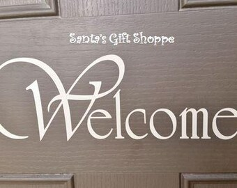 Vinyl Decal - Welcome - Front Door Decal - Curb Appeal - Home Decor