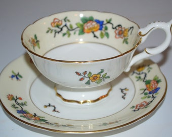 Vintage Coalport cup and saucer Corea floral tea cup - very pretty