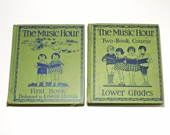 Vintage Music Hour Music Books for Lower Grades, Music Book - circa 1920's