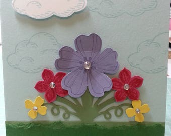 Handmade All Occasion Card. Flowers, For Her