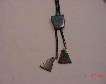 Vintage Polished Stone Bolo Tie  17 - 61