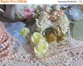 Store Closing SALE Vintage Faux Pearls-Sewing-Dolls-Clothing-Scrapbooking-Embellishment-Card Making-3 yards-Blush Pink