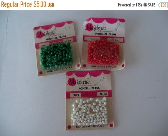 ON SALE Vintage Lucite Beads-Old Stock-Rondell-Facet-x3