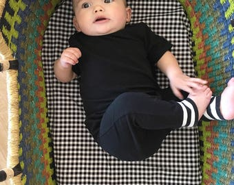 Lumberjack Crib Sheet - Black White Check Baby Bedding / Changing Pad Cover / Fitted Baby Sheet / Black Baby Bedding / Modern Baby Sheets