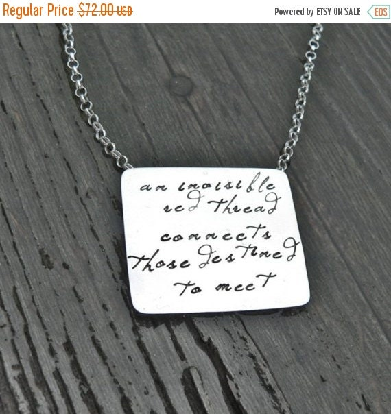 20% OFF - An Invisible Red Thread...an Adoption Necklace