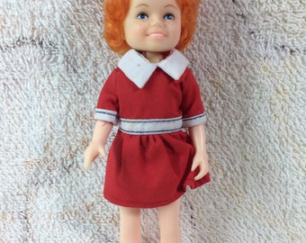 "Vintage 1982 Little Orphan Annie Doll Knickerbocker Toys Retro Collectible 6"" Doll"