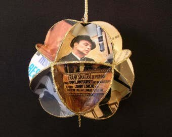 Frank Sinatra Album Cover Ornament Made From Record Jackets