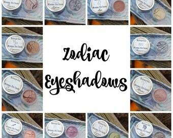 Astrology Eye Color// CHOOSE YOUR SIGN//  Mineral Eyeshadow Vegan Organic Makeup // Zodiac Based Mineral Eye
