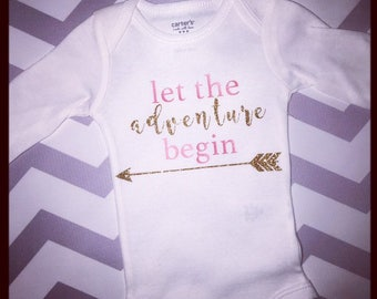 Let the adventure begin newborn outfit gift