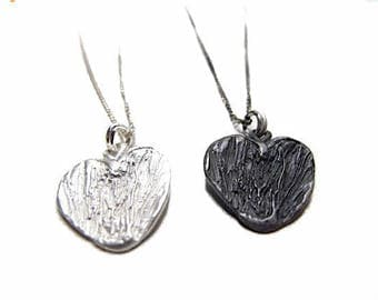 "The Fates Heart, Sterling Silver 925 heart pendant on 16"" chain"