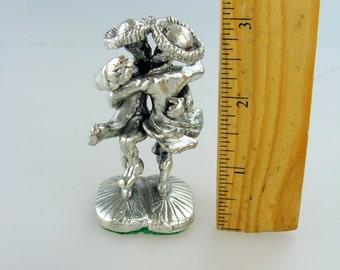 "NOS Silver - Rabbi  ""dancing"" Hasid Chasid statuette figurine Judaica - Made in ISRAEL"
