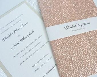 Wedding Invitation, Wedding Invite, Unique Invitation, Indian Invitation, Blush Pink Invitation, Coral Pink Invite, Rose Gold, SARAHIE-45