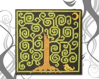 PDF E pattern emailed Tree of Life Wiccan Witch Wicca Cross Stitch Pattern Sampler 34