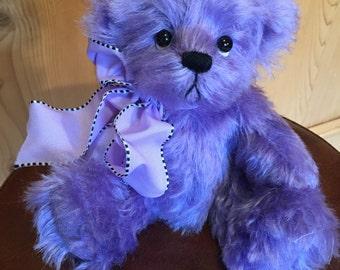 Precious Pearl: a handmade artist teddy bear from Jazzbears