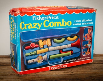 SEALED Fisher-Price Crazy Combo Toy, Musical Instrument, Vintage 80s, New in Box