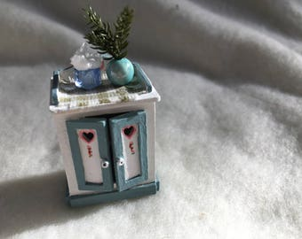 Dolls House Luxury Hand Painted 1/24th Cupboard - NEW SPRING 2017
