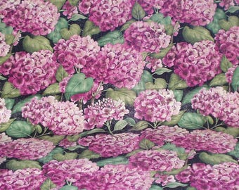 Tim Coffey For Springs Cotton Fabric Hydrangea Floral Print 1 One Yard Sewing Quilting Crafting Fabric