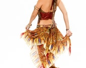 Sunburst PaisleyScarf Belt,Festival Belt,Burning Man,Tribal Feather Belt Bustle, Indian Warrior Goddess, Butterfly, Faery,Hippy,Sexy Costume