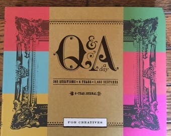 Q & A a Day for Creatives Book Self Help Creativity 4 Year Sketch Journal Potter Style