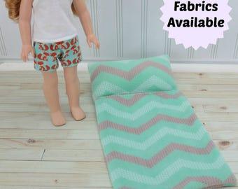 """14"""" -14.5"""" Doll Sleeping Bag - AG Wellie Sleep sack - Hearts For Doll Bed - AG Sleeping Bag - Wisher Sleeping Bag"""