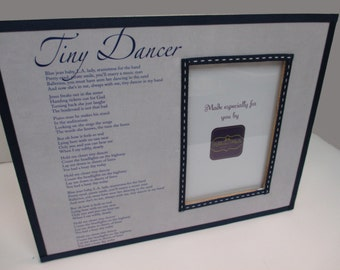 Wedding Song Frame- Navy and Gray