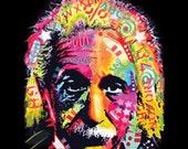 Einstein ADULT UNISEX T Shirt Neon Blacklight Fluorescent Print 18486NBT4