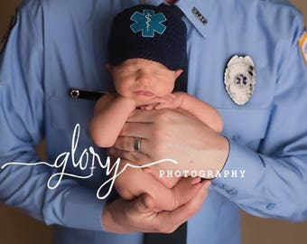 EMT, star of life, EMS baby, baby boy, baby girl, photo prop, newborn prop, baby prop, infant prop, EMS  hat, baby shower gift, new baby