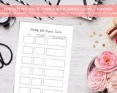 A4/USL/A5 Printable Goal Planner & Tracker - Kikki K -  Organiser - Organizer - Project List - Planner Printable