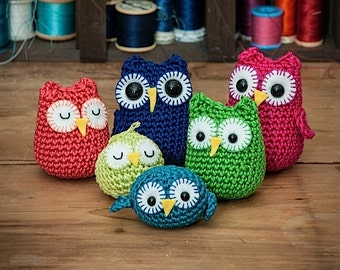 Rainbow owls amigurumi PDF crochet patterns
