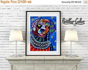 50% Off Today- Golden Retriever Art Print Dog Poster of Painting POP Art Art Print Poster of Painting   Dog Art Heather Galler (HG487)