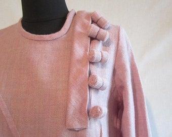 On Sale 1960s Shift dress diagonally motif