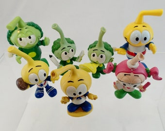 Snorks Vintage Figurine PVC Figure Lot Wind up Walking Toys 7 pieces characters