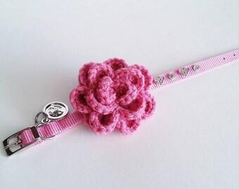 Pet Collar Accessory - Crochet Flower