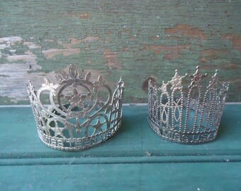 2 Silver Doll Crowns/Miss USA/Miss Teen USA Crowns/Stars/Assemblage