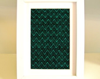 Framed Weaving No. 7 - Handwoven Textile Art