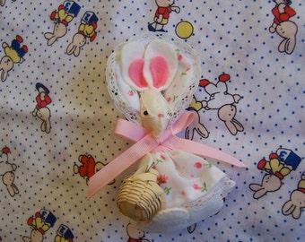 little girl felt bunny