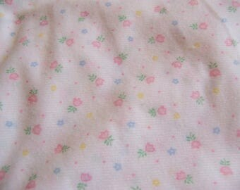 tiny pink tulips polyester fabric