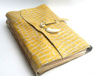 Dragonskin Journal with Dragon Tooth Enclosure
