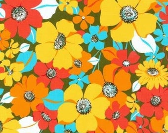Robert Kaufman Laurel Canyon Collection Garden Floral Fabric - 1 yard