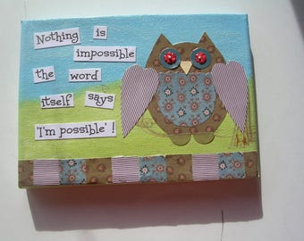 Mixed Media Art, Word Pictures   Nothing is Impossible