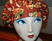 Gourmet Pizza Banded Bouffant Surgical Cap Bakers Cap