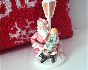 Vintage Sebastian Miniature Santa Figurine Orig. Label